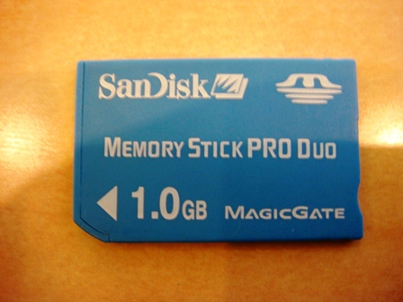 SanDiskのメモリースティックPRO DUO 1GB ・cyber-shot DSC-T100で撮影